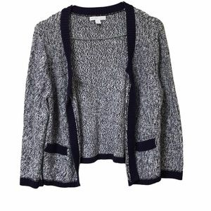 New York & Co Womens M Open Front 3/4 Sl Cardigan